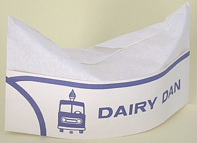 old vintage DAIRY DAN MILK CONCESSION hat