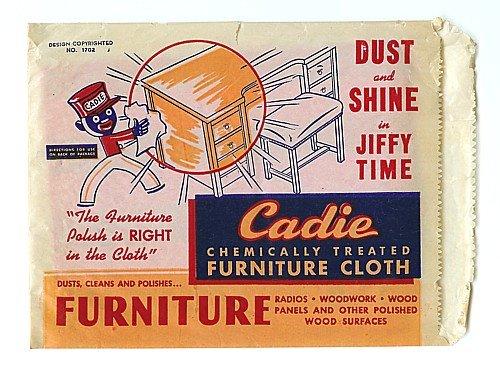 Cadie Dust Cloth Negro Bag 1940s