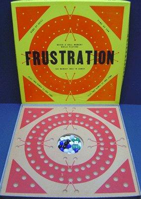 old vintage 1964 FRUSTRATION BOARD GAME