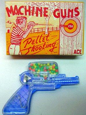 old vintage 1960's Toy Candy Machine Gun in Box