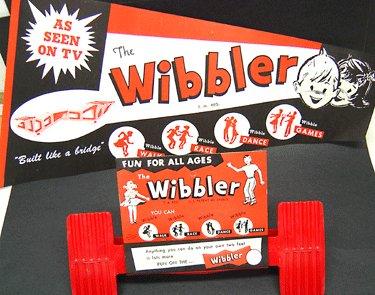 old vintage 1960 WIBBLER WALKER TOY w poster