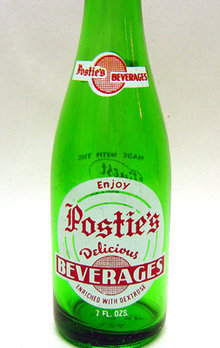 old vintage 1960s POSTIE's ACL Soda Bottle