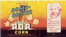 Bomb Buster Popcorn Label 1940s rare