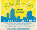 old vintage WAKE-UP LEMON GAZOSSA label