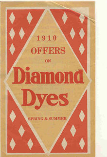 old vintage 1910 DIAMOND DYES pamphlet KY