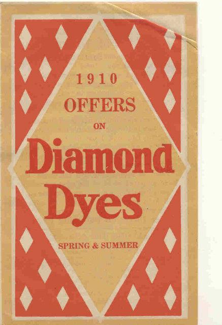 old vintage 1910 DIAMOND DYES pamphlet KY