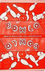 old vintage 1943 BOWLO BOWLING CARD PLAY DECK