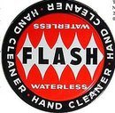 old vintage FLASH HAND CLEANER TIN 1950