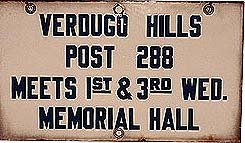 Verdugo Hills Porcelain Sign