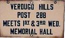Verdugo Hills Porcelain Sign