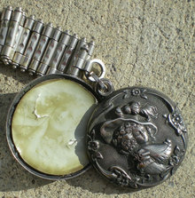 Silver Watch Chain Locket