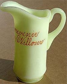 old vintage SALEM CUSTARD GLASS PITCHER ~ 1910