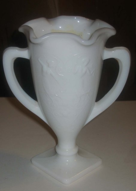 Milk Glass Dancing Lady Vase