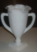 Milk Glass Dancing Lady Vase
