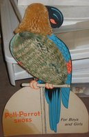 Poll Parrot Standee Sign