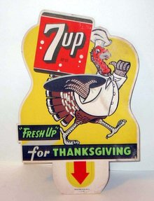 7UP Thanksgiving Sign 1948