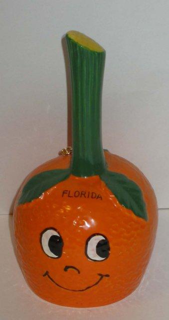 Florida Souvenir Bell Shaped Like Orange