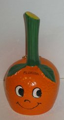 Florida Souvenir Bell Shaped Like Orange