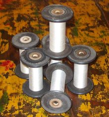 old vintage WOOL MILL SILK SPOOL bobbin