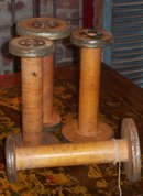 WOOL MILL BOBBIN / large metal