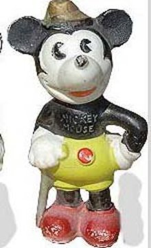 Mickey Mouse Bisque Figure