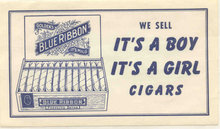 Blue Ribbon Cigar Sign Baby Shower