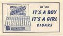 Blue Ribbon Cigar Sign Baby Shower