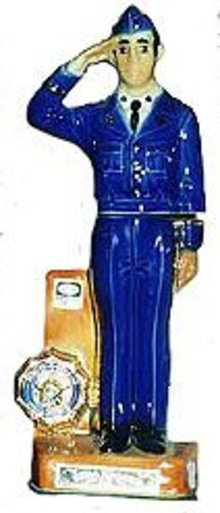 Ezra Brooks Figural Liquor Decanter