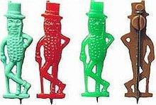 4 old vintage MR. PEANUT FIGURAL plastic pins