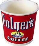 old vintage FOLGER'S COFFEE paper cup 1940s