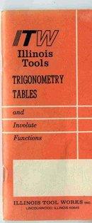 vintage ITW ILLINOIS TOOLS TRIGONOMETRY BOOKLET