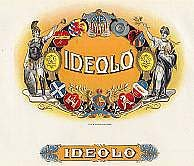Ideolo Inner Cigar Box Label - VINTAGE ADVERTISING TOBACCO
