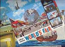 old vintage NEW YORK WORLD'S FAIR POSTCARDS