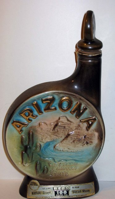 old 1968 JIM BEAM ARIZONA GRAND CANYON bottle