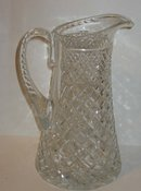 Faceted Cut Glass Pitcher