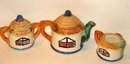 old vintage CERAMIC wicker teaset sugar