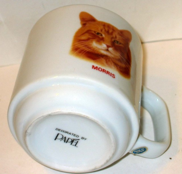 old vintage MORRIS THE CAT coffee cup mug