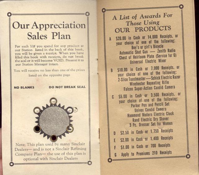Sinclair Gas Premium Booklet