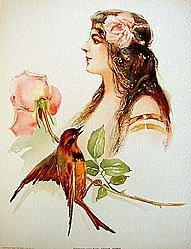 Victorian Litho Print Louise Homer