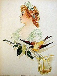 Sybal Sanderson Art Lithograph Print