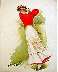 Golf Lithograph Print