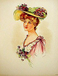 Victorian Easter Purple Hat Print