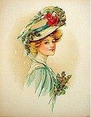 Victorian Easter Bonnet Print