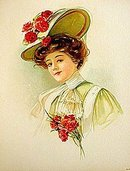 1908 Antique Easter Art Lithograph