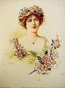old vintage 1904 VICTORIAN LITHO Ellen Terry