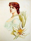 old vintage 1904 VICTORIAN LITHO Lily Langtry