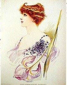 old vintage 1904 VICTORIAN LITHO ~ BURNHARDT