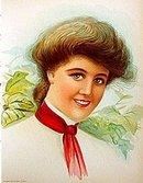 old vintage 1906 VICTORIAN LITHO ~ LEAVES