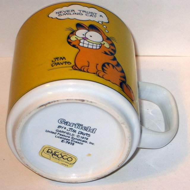 old vintage ENESCO GARFIELD THE CAT coffee mug