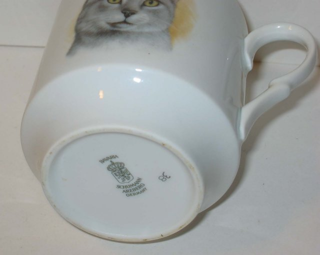 old vintage GERMAN CAT MUG cup